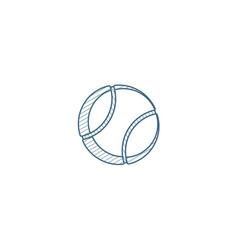 tennis ball isometric icon 3d line art technical vector image