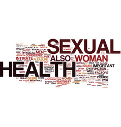 the importance of sexual health in men and women vector image