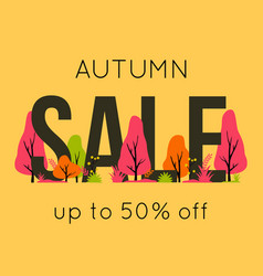trendy autumn sale banner for autumnal shopping vector image