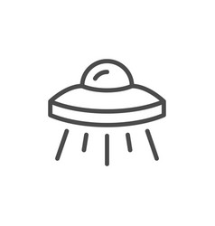 ufo object line outline icon vector image