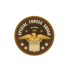 Us military chevron special forces squad icon vector