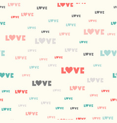 valentines day seamless pattern typography vector image
