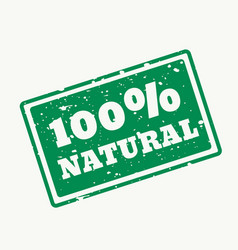 100 natural stamp in vector image