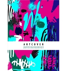 artistic poster card with text space Hand vector image