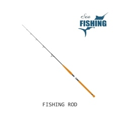 Fishing rod Item of fishing vector image