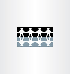 people holding hands reflection icon vector image