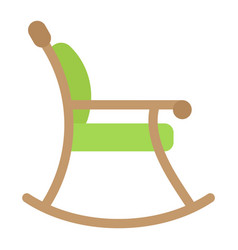 rocking chair flat icon furniture and interior vector image