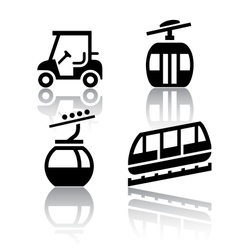 Set of transport icons - recreation vector