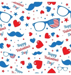 Valentines Day hipsters symbols with the American vector image