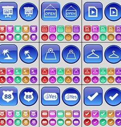 Diagram open media file palm weight hanger badge vector