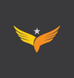 falcon eagle bird logo template icon vector image vector image