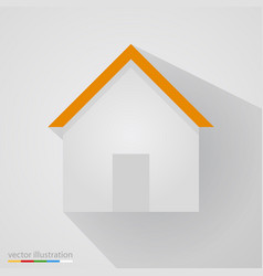 flat home sign on white background with shadow vector image