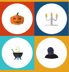 flat icon celebrate set of candlestick magic vector image vector image