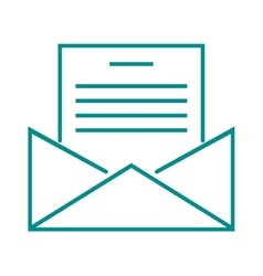 Letter mail icon message business send address vector image