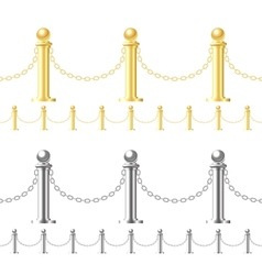 Seamless fence isolated on white vector image vector image