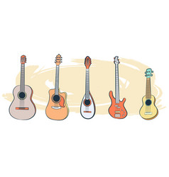 set of musical instruments-01 vector image