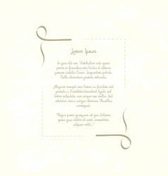 vintage decorative frame retro template place for vector image