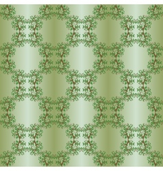 Vintage seamless background with trees vector image vector image