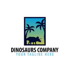 dinosaurs company logo or emblem vector image