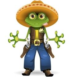 frog sheriff vector image vector image