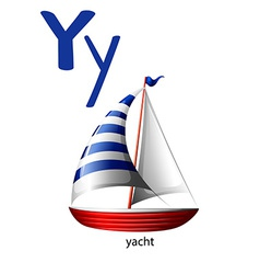 Letter Y for yacht vector image vector image