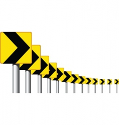 road sign curve vector image vector image