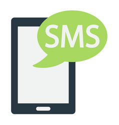sms flat icon contact us and website vector image