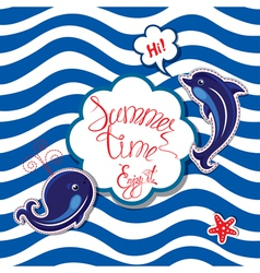 summer card striped 3 380 vector image