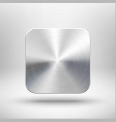Technology app icon with metal texture for ui vector image vector image