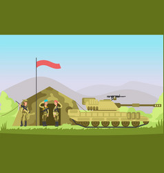 us army soldier with gun in uniform cartoon vector image