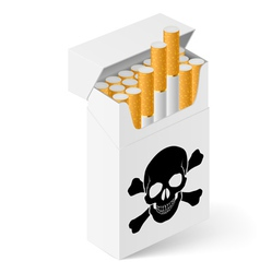 White Pack cigarettes with vector image vector image