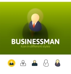Businessman icon in different style vector image