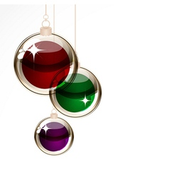 Christmas transparent balls vector image