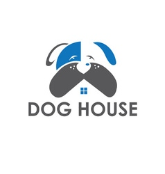 Dog house design template vector