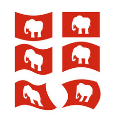 elephant flag republican national flag of vector image