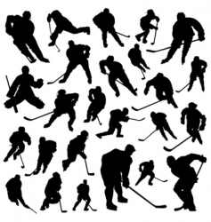 hockey players vector image vector image