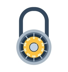 Lock icon isolated on white vector image