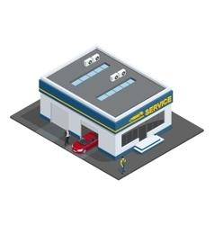 Repair garage Auto mechanic service maintenance vector image