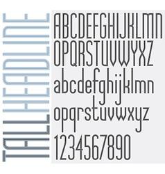 Retro stripes tall headline light condensed font vector