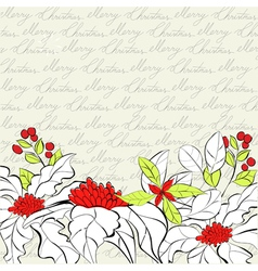 retro stylized christmas card vector image vector image