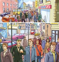 Street Crowd vector image vector image