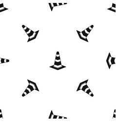traffic cone pattern seamless black vector image