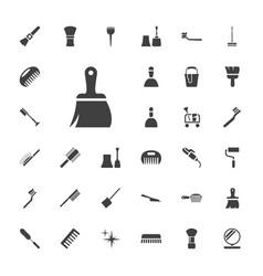 33 brush icons vector