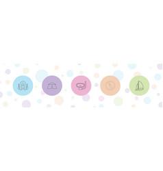 5 adventure icons vector