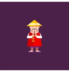 a Chinaman character vector image