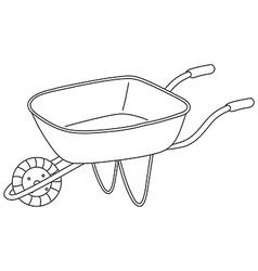 A utility cart vector image