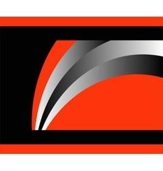 Abstract orange flyer background vector