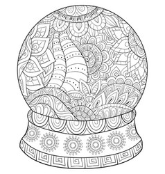 Adult coloring bookpage a christmas ball image vector