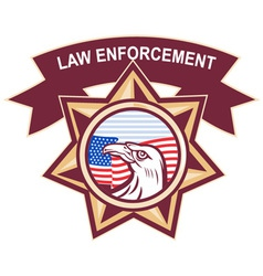 American law enforcement vector