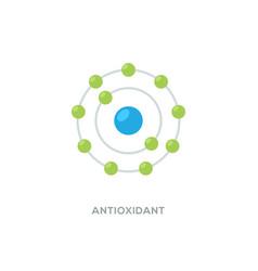 Antioxidant icon radical free oxidant vector